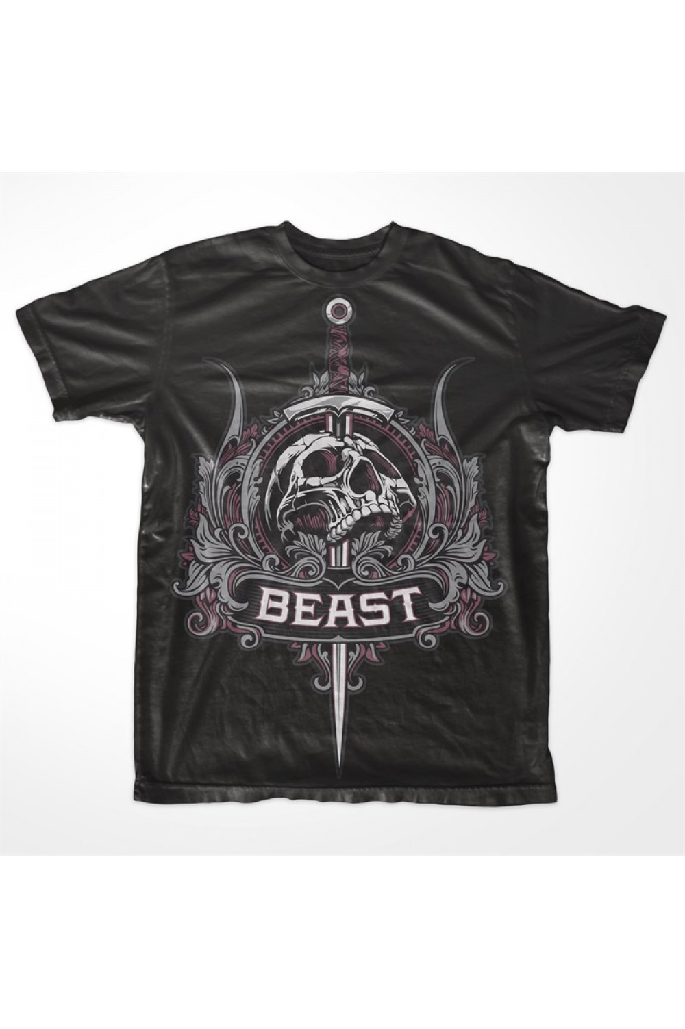 "Skull Beast Men Printed T-shirt 4026 ""Beast"""